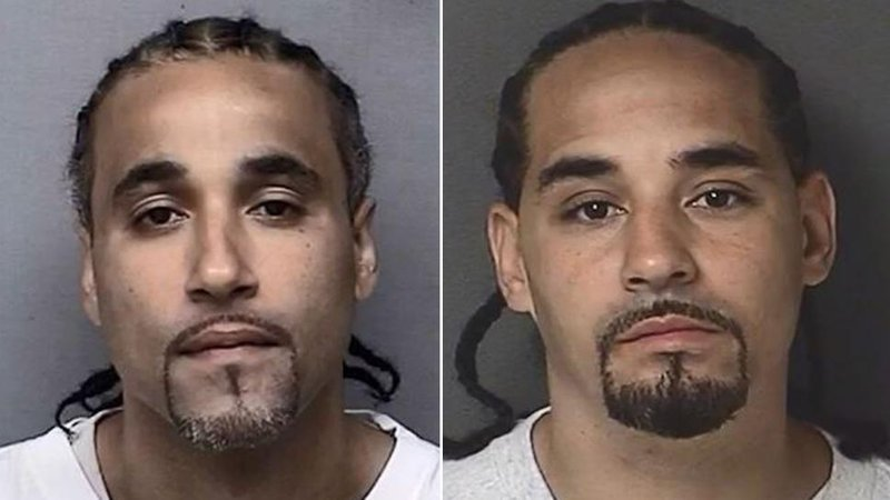 Richard Jones (left) was released from prison after investigators found that another man, Ricky Amos (right) may have committed the crime