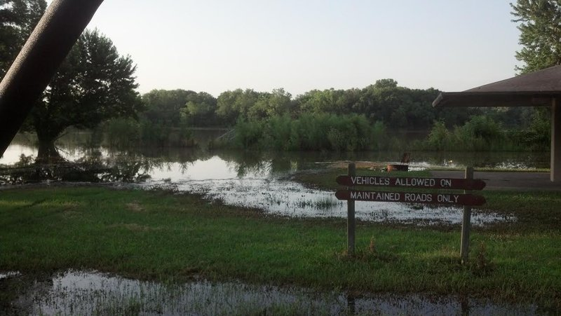 Flooding at Tuttle Creek State Park (KMAN)