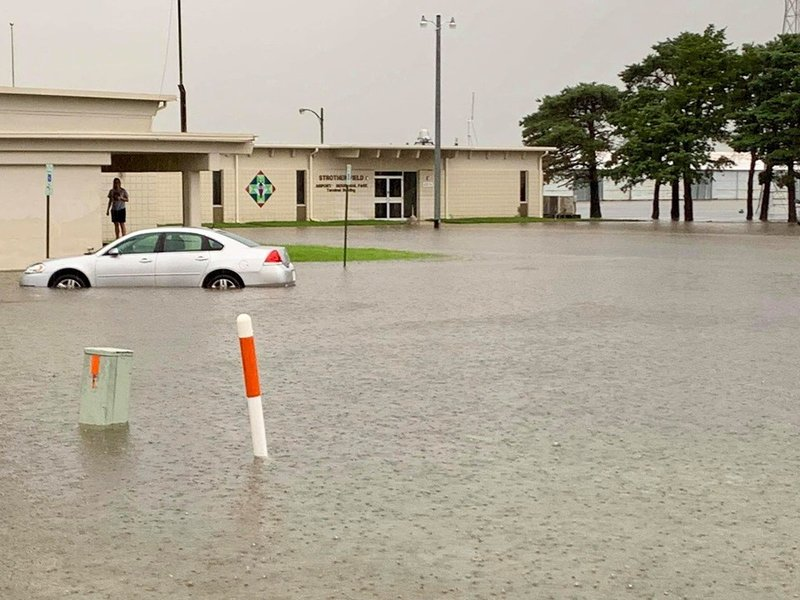 Heavy rains in Cowley County on June 6th caused flash flooding at Strother Field between Winfield and Ark City, as captured by KSOK Radio's Brett Coplen.