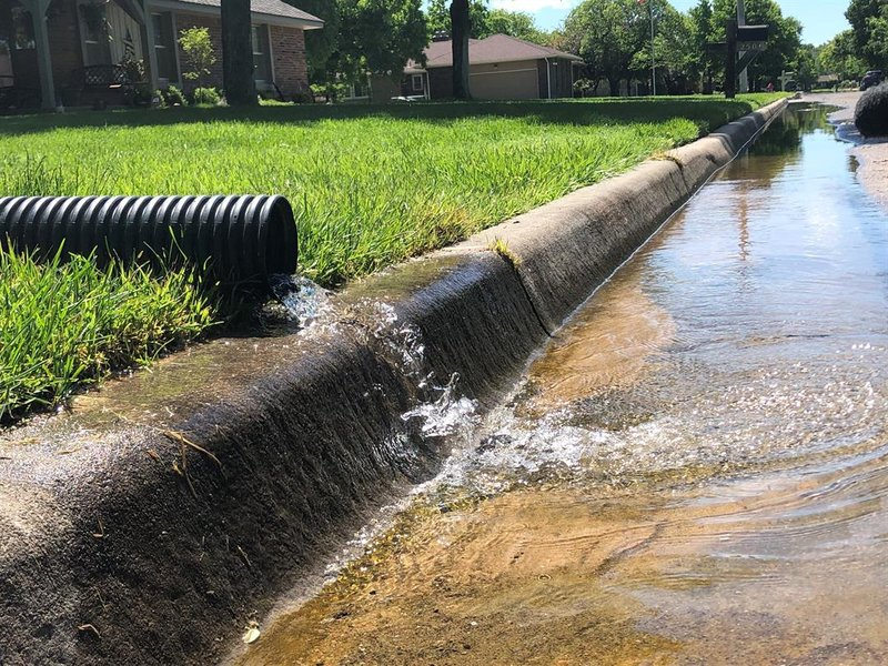 The City of Wichita asks residents not to let sump pumps drain into the street and down into the already overloaded sewer system.