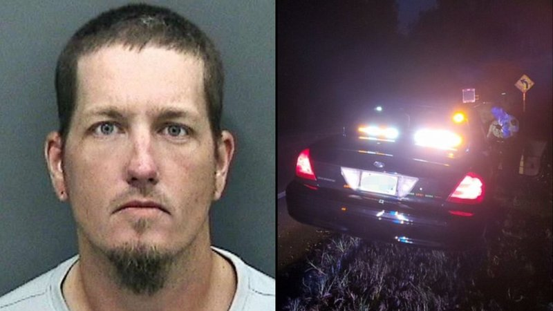 Barry Lee Hastings and his vehicle (Hillsborough County Sheriff)