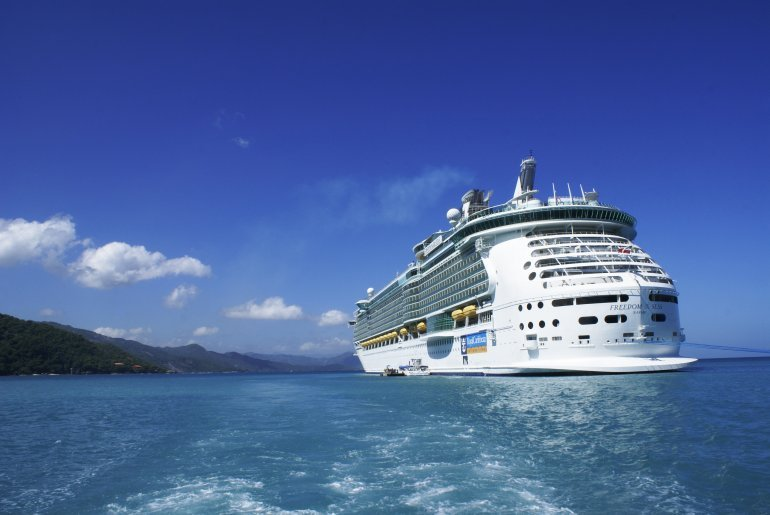 Labadee, Haiti - October 12, 2009: Royal Caribbean Cruises, cruise ship Freedom of the seas anchored in Labadee. Labadee is a port located on the northern coast of Haiti. It is a private resort leased to Royal Caribbean Cruises. (Getty)