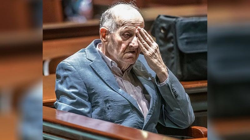 Albert Flick, sits in court at his murder trial. (Andree Kehn/Sun Journal via AP)