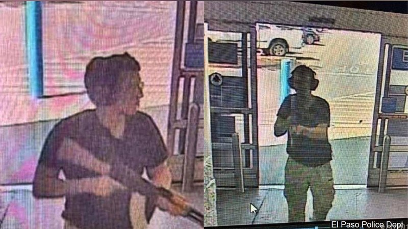 PHOTO: Store security camera footage said to be of the gunman, Photo Date: 8/3/2019