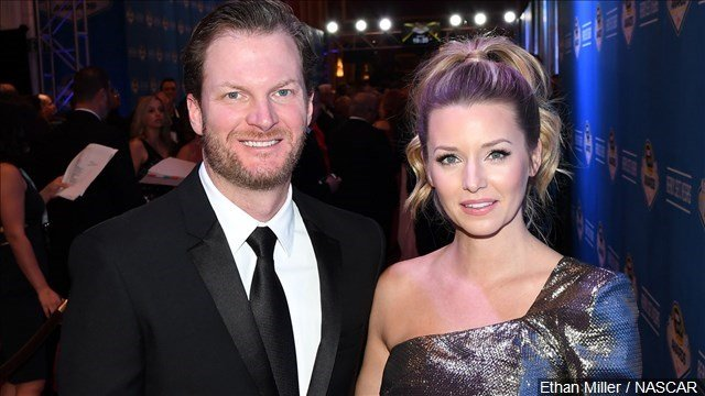 Dale Earnhardt Jr. and wife Amy Reimann