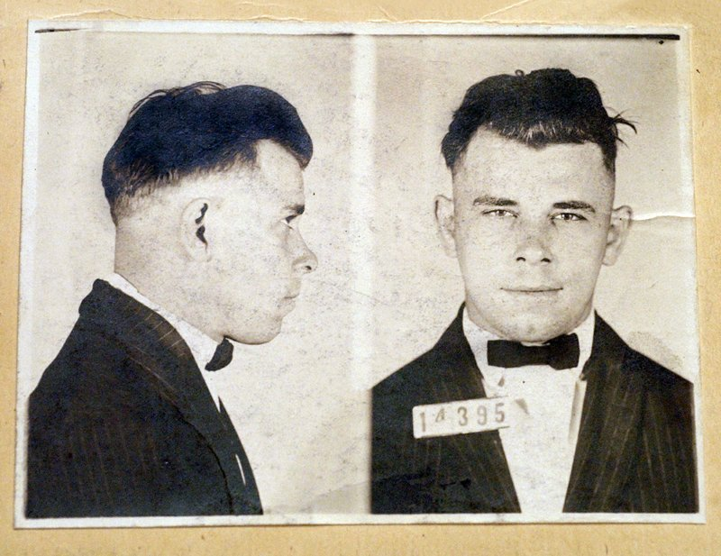 This undated file photo shows Indiana Reformatory booking shots of John Dillinger, stored in the state archives. Indiana officials have approved a new permit relatives of 1930s gangster John Dillinger had sought to exhume his Indianapolis gravesite (AP)