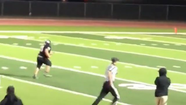 Goddard student with Down syndrome scores 43-yard touchdown