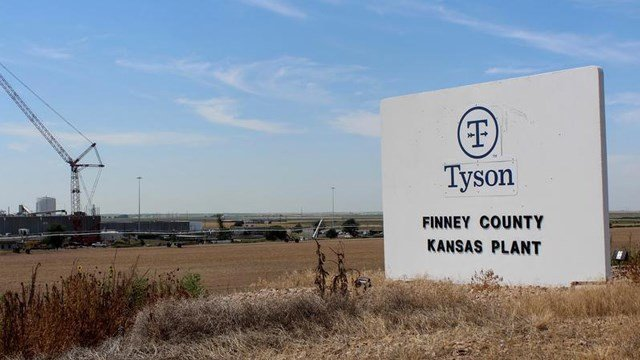 The Tyson plant in Holcomb, Kansas, is running at limited capacity after the Aug. 9 fire. CORINNE BOYER / KANSAS NEWS SERVICE FILE PHOTO