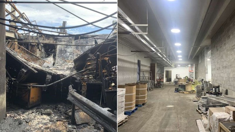 Tyson plant before and after
