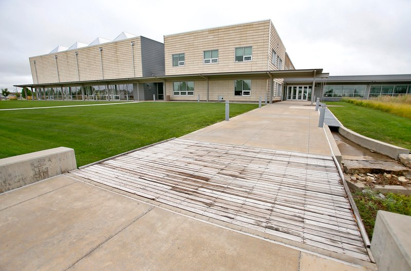 Greensburg, Kansas, built a new, environmentally friendly, high-tech high school after being hit by a massive tornado in 2007. But the town has barely half the population it did before the twister struck. (CHRIS NEAL / FOR THE KANSAS NEWS SERVICE)