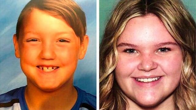 Joshua Vallow, 7, left, and Tylee Ryan, 17