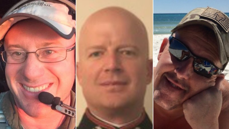 The three are (from left to right) Capt. Ian McBeth of Great Falls, Montana; First Officer Paul Clyde Hudson of Buckeye, Arizona; and Flight Engineer Rick DeMorgan Jr. of Navarre, Florida.