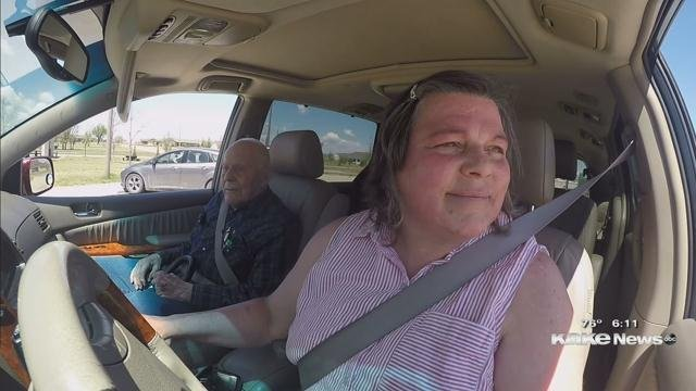 At 103 Years Young Loyd Ratts And His Daughter In Law Barbara Austin Are Hitting The Open Roads Of Kansas Taking Part First Ever Big Road