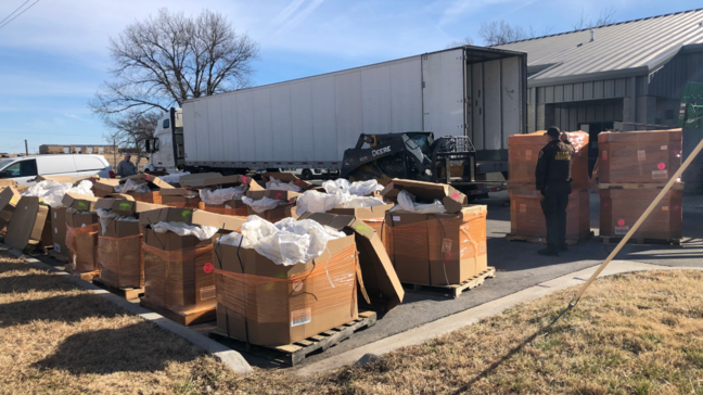 Police find 18,000 pounds of suspected pot during Oklahoma traff