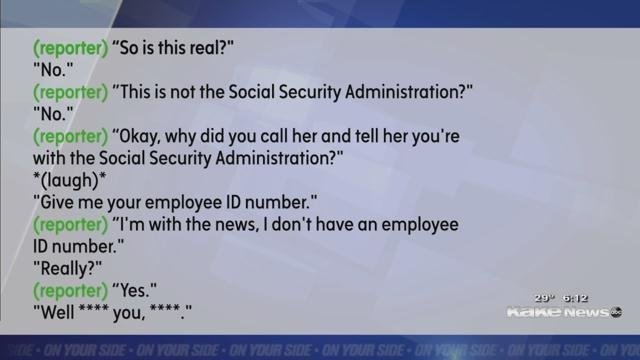 does social security ever call