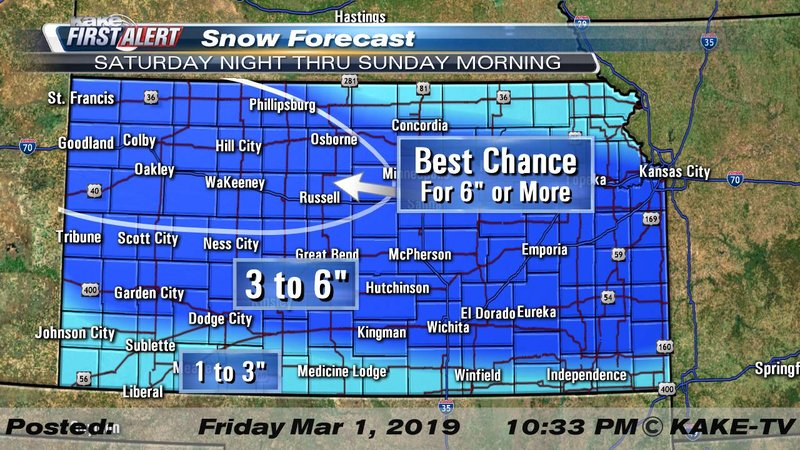 Widespread snow and frigid cold roll back into Kansas