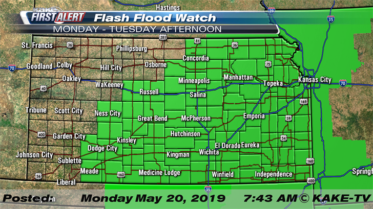 More storms and flooding rain for KAKEland