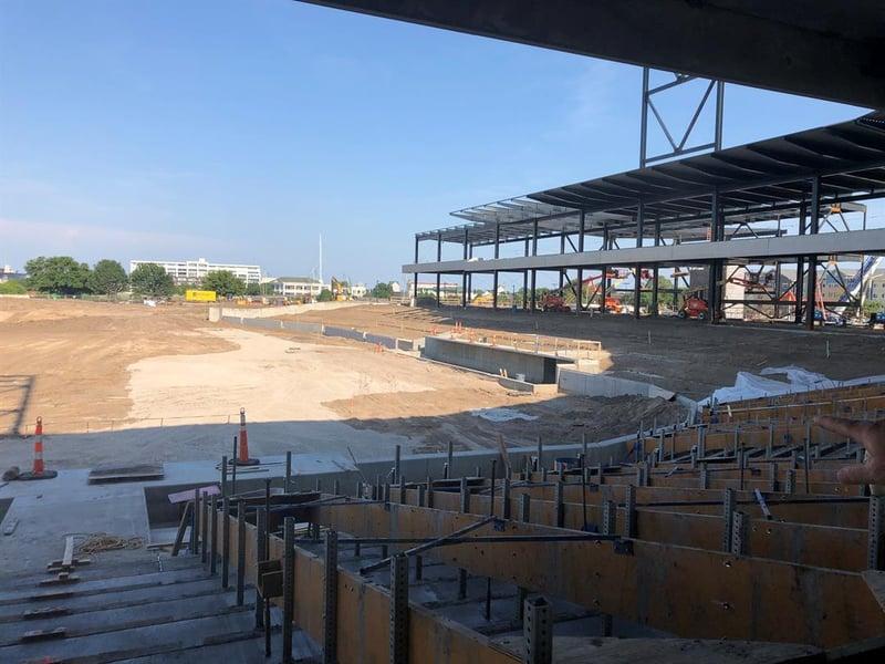 Final steel beam placed at baseball stadium - KTEN com - Texoma news
